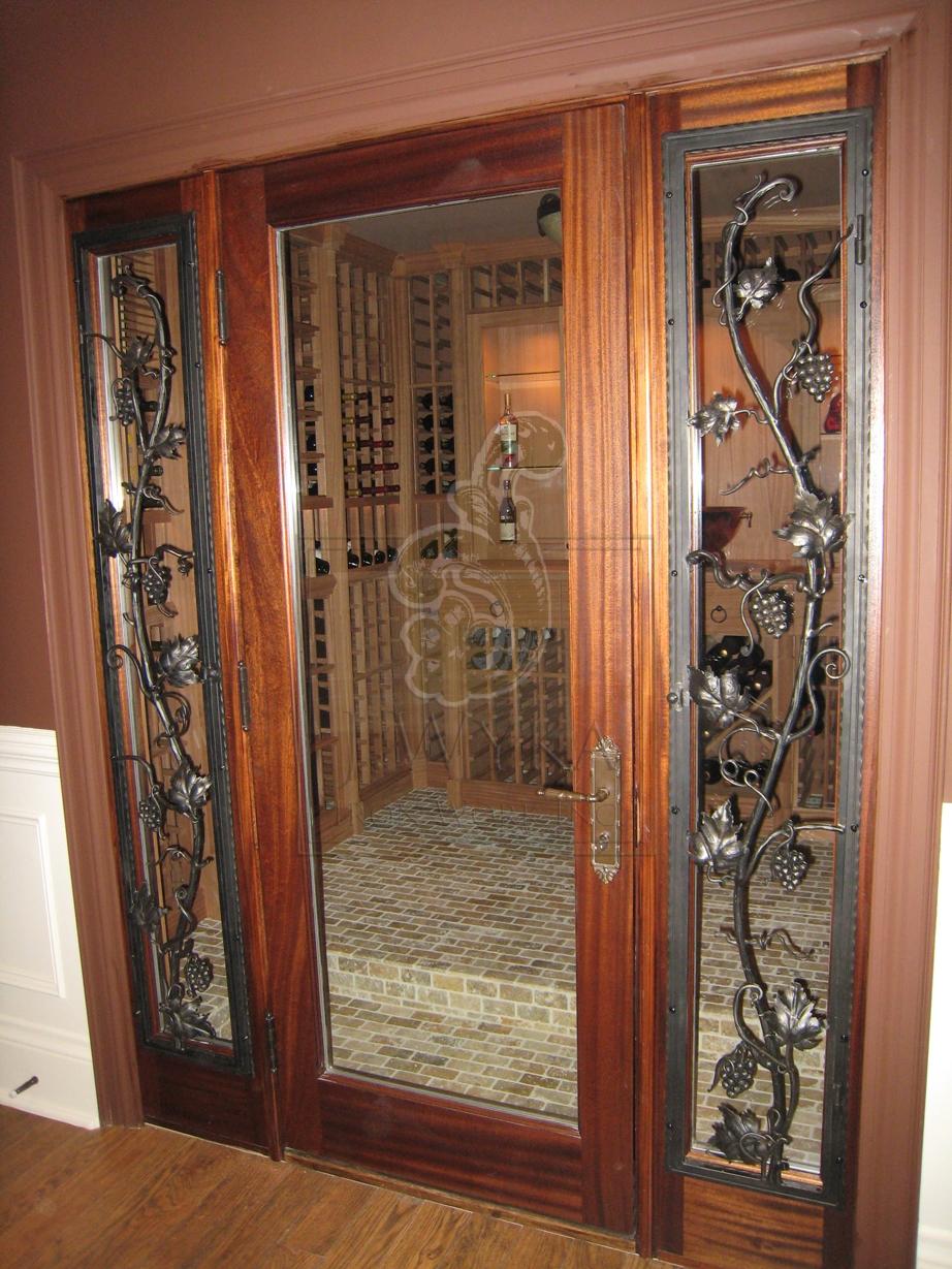 Wine Cellar Doors | Wyka Iron Work Inc.